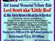 Memorial ride for a non-profit organization