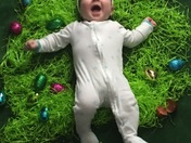 Grandson enjoying his first Easter