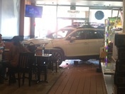 Car Crash Into Round Table Arden and Eastern way