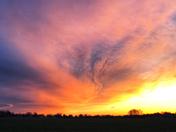 Sunset Easter night Lititz Pa