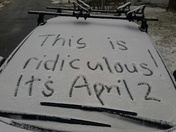 Snow in April!