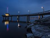 Brant Street Pier Blue Hour