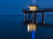 Brant Street Pier Blue Hour (Vertical)