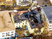 Aerial of Biddeford Fire
