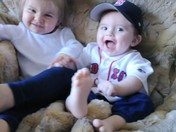 Cheering for The Red Sox