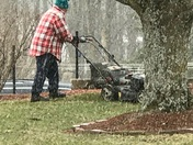 If you mow the snow....spring will come right?