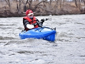 Kayaking in cold weather.