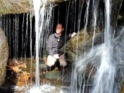 1st falls on Lovelace Creek. Me & David Wester