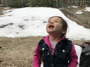 April 10th and still catching snowflakes on our tongue!