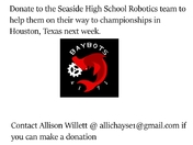 Support the Seaside High School Robotics Team