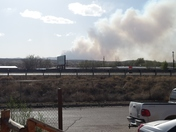 Fire in Zuni Mountains 18 miles south west of Grants milan Area out of control in dener Canyon