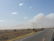 This is a picture of the 300 acre burn in Cibola  County