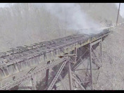 Marticville bridge fire drone video