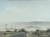 Cubero NM under dust and smoke