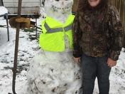 April snow man!