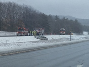 Multiple cars off the road on 93 south.