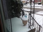 Front Porch...snowstorm on April 15, 2018!