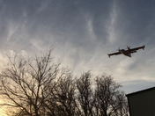 Planes over Foss Lake refilling for the fires.