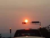 Sun at the stoplight