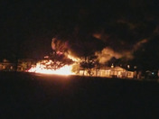 West GATE play ground on fire 2-3a.m