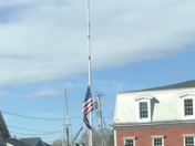 A very quiet somber Wednesday morning in Kennebunk port