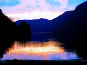 Cameron Lake Spring Sunset