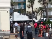 Hi this fire happened today in the Daytona beach shores at Perry's beach resort.