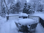 This is April ???Mayville WI Beautiful snow!!