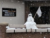 The local eye Dr in Eagle Grove made the most of the snow today with a little humor.