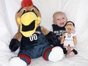 Luke is ready to watch the Pelicans!