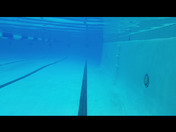 Underwater view of the pool