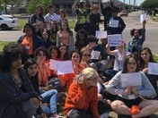 Benjamin Franklin High School Students walkout to protest gun violence 19 years after Columbine