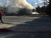 House fire, Auburn Road in Falmouth