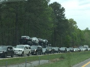 Wreck on I -26 east near exit 60.  Traffic backed all the way to I-385