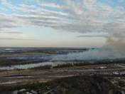 Drone photograph of today's controlled burn