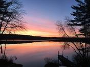 Sunrise on lower Suncook Lake