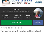 Join teamedelman to raise money for Harrington hospital new ER.