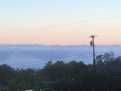 Just a hint of the city showing this morning from Piney Mountain