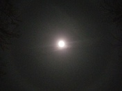 Ring around the moon tonight seen from Friendship Indiana!