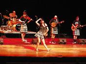 Cape Breton dancer and Scottish band