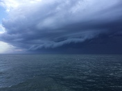 From a cruise ship off the coast of Virginia on April 25