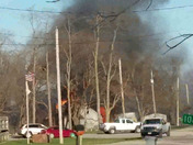 Big house fire in Warren County