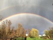 Rainbow over Carroll Twp