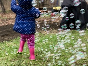 Bubble fun and puddle jumping
