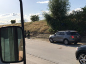 Overturned vehicle west bound 80 just past Norwood.