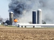 Herda barn fire in the Town of Wheatland.