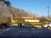 Macaroni Grill fire on Padonia