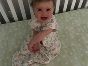 My great granddaughter wakes up happy each day
