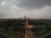 Downtown, before the storm.