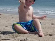 Jaxson enjoying Hampton beach